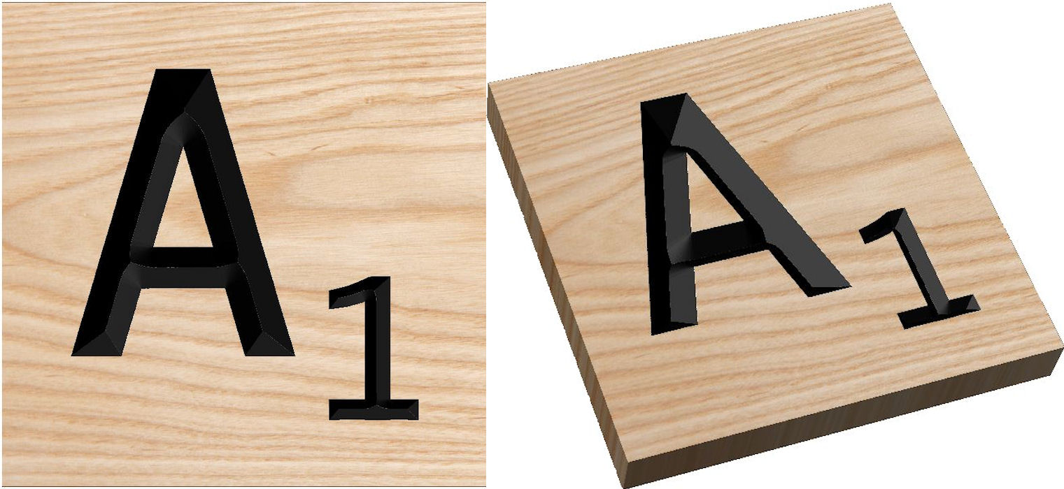 We Offer Solid Wood Over Size And Extra Large Scrabble Tile