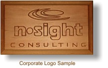 Sample Custom Wood Sign - Corporate Logo
