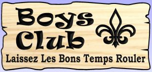 """Boy's Club"" sign"