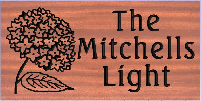 """The Mitchells Light"" sign"
