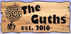 """The Guths"" sign"