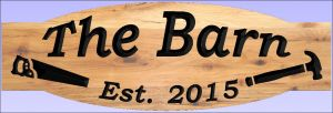 """The Barn"" sign"