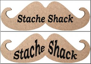 """The Stache Shack"" sign"