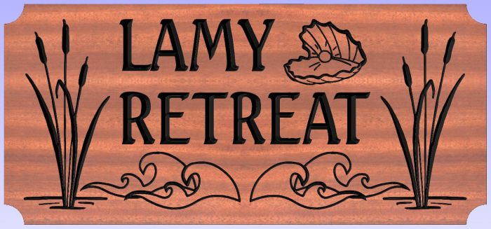 """Lamy Retreat"" sign"