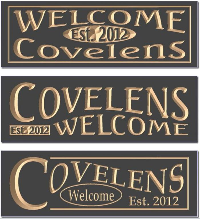 """Covelens Wecome"" sign"