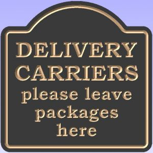 """DELIVERY CARRIERS"" sign"
