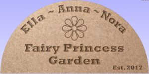 """Fairy Princess Garden"" sign"
