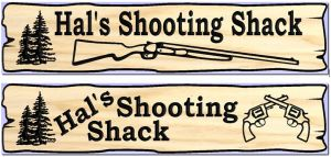 """Hal's Shooting Shack"" sign"