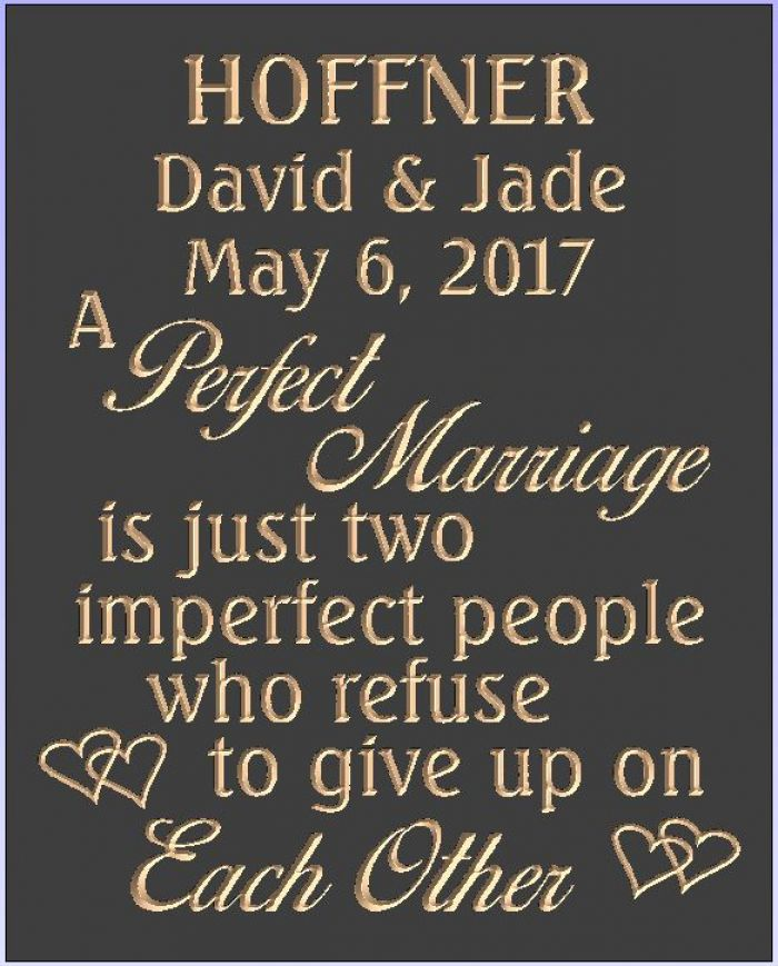 """Hoffner Perfect Marriage"" sign"
