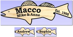 """Macco"" fish signs"