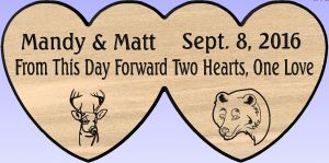 """Matt and Mandy Wedding"" sign"