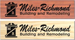 """Miles-Richmond"" sign"