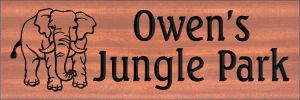 """Owen's Jungle Park"" sign"