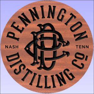 """Pennington Distilling Co."" sign"