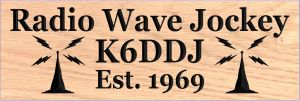 """Radio Wave Jockey"" sign"