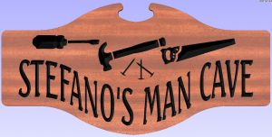 """STEFANO'S MAN CAVE"" sign"