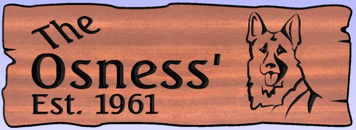 """The Osness'"" sign"