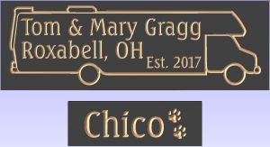 """Tom & Mary Gragg"" sign"