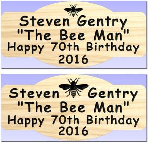 """Steven Gentry"" Bee sign"