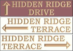 """Hidden Ridge"" signs"