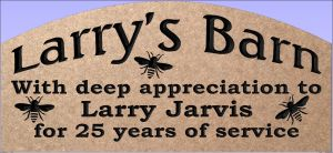 """Larry's Barn"" sign"